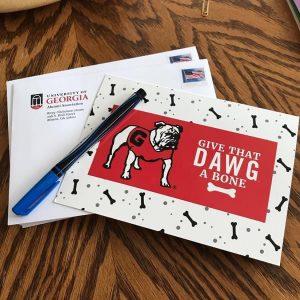 Picture of Give that Dawg a Bone cards and envelopes