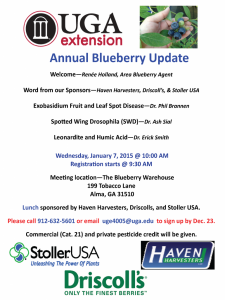 annual blueberry meeting flyer 2015