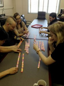 """We had """"sequence reads"""" made out of starbursts that needed to be assembled"""