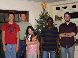 McLab team with kids Christmas dinner 2011