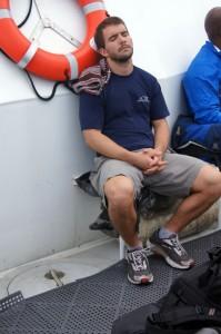 Sapelo 2011 TJ Magaha sleepy on boat home