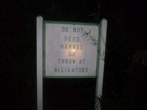 Sapelo 2011 sign at alligator pond
