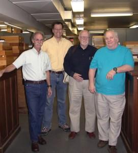 Rick Hoebeke, Joe McHugh, Dac Crossley, and Cecil Smith (left to right)